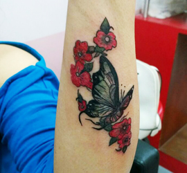 KALAKRITI FLOWER & BUTTERFLY TATTOO